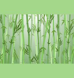 cartoon bamboo forest landscape background vector image vector image