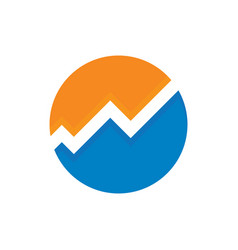 circle chart finance logo vector image vector image