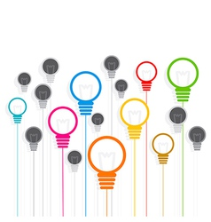 creative colorful bulb background design vector image