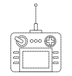 Drone remote control icon vector