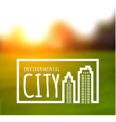 ecologically clean green city vector image