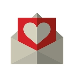 envelope with valentine heart vector image