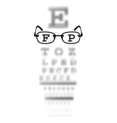 eye test vector image vector image
