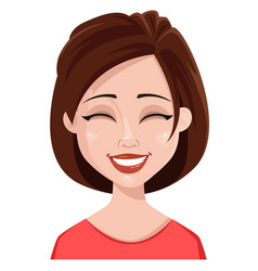 face expression of a woman - laughing vector image vector image