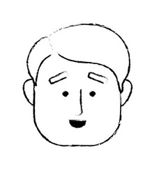 Figure man face with hairstyle design vector