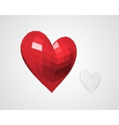 Heart from Squares vector image vector image