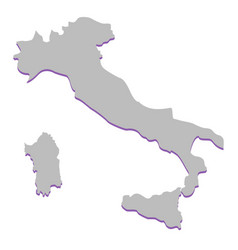 image of the contour of italy vector image