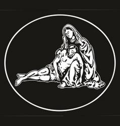 jesus descend Pieta vector image vector image