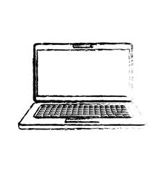 Laptop computer technology vector image