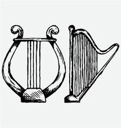 lyre vector image