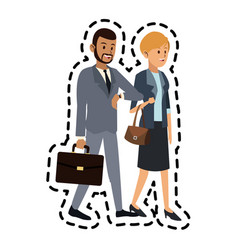 man and woman friends icon image vector image vector image
