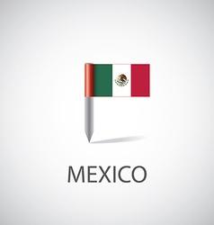 Mexico flag pin vector