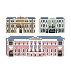 old buildings vector image vector image
