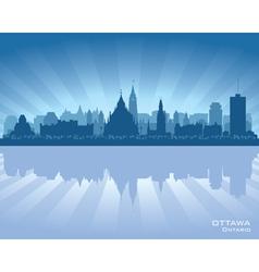Ottawa Canada skyline silhouette vector image vector image