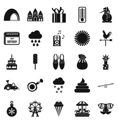 peristyle icons set simple style vector image