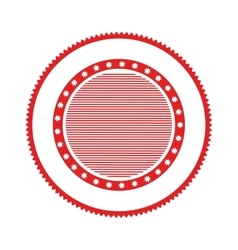 Red circular stamp abstract art deco emblem vector