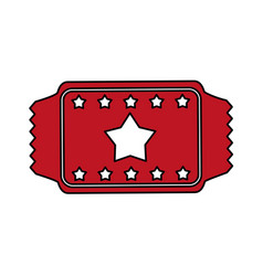red ticket design vector image