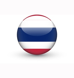 Round icon with national flag of Thailand vector image