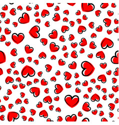 seamless pattern with heart vector image