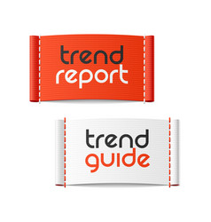 trend report and trend guide clothing labels vector image vector image