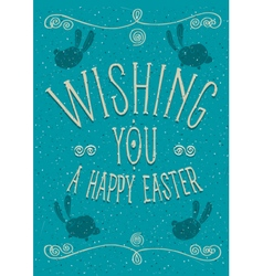 Wishing you a Happy Easter vector image vector image