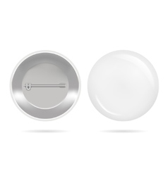 Template Blank White Button Badge vector image