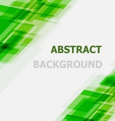 Abstract green geometric overlapping background vector image
