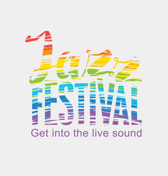 Poster for the jazz festival colored text vector