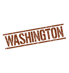 Washington brown square stamp vector
