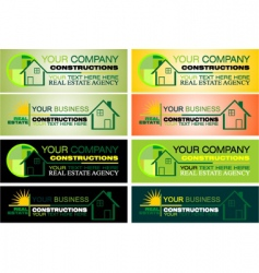 Real estate design elements vector