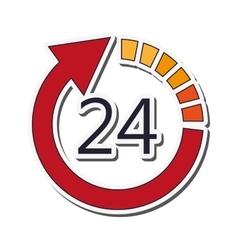 24 hour arrow icon vector