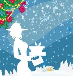 Abstract card - winter shopping vector image