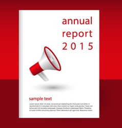 Annual report red megaphone vector