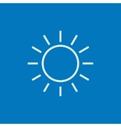 Sun line icon vector