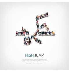 People sports high jump vector