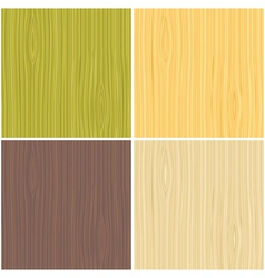 a set of wooden texture vector image vector image