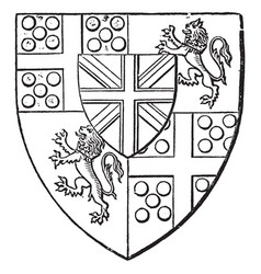 Arms of duke of wellington is a heraldry shield vector