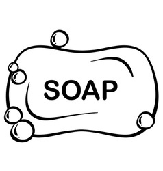 Bar soap vector image vector image