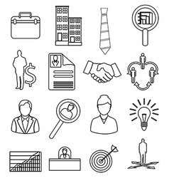 Business productivity icons set vector image