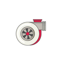 car turbo flat icon vector image vector image