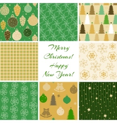 Christmas patterns collection 4 vector image vector image