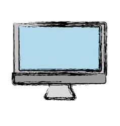 Computer monitor icon vector