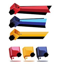 Cube bar preview vector