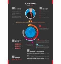 Elegant Minimalist Style Resume - CV Template vector image
