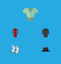 Flat icon clothes set of casual clothes foot vector