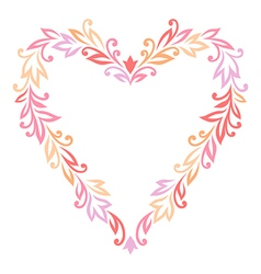 Floral ornament heart vector