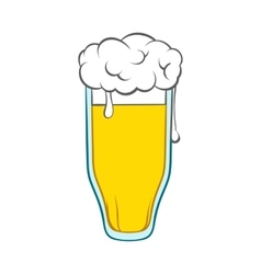 Glass of beer icon cartoon style vector image vector image