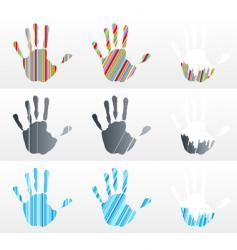 handprint collection vector image