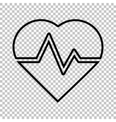 Heartbeat sign line icon vector