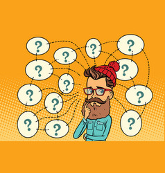 Hipster solves the problem questions and vector